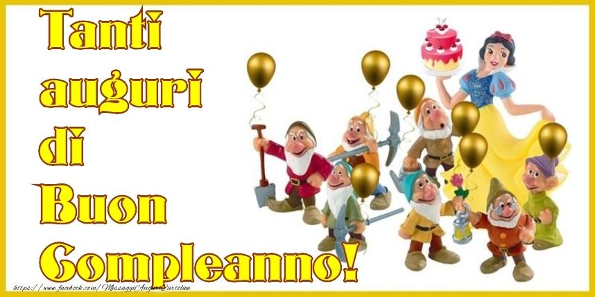 Cartoline per bambini - Tanti auguri di Buon Compleanno!