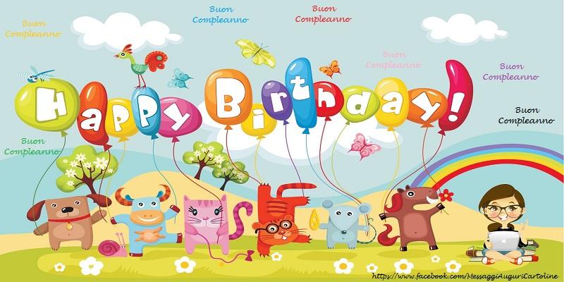 Il più popolari cartoline per bambini - Buon Compleanno