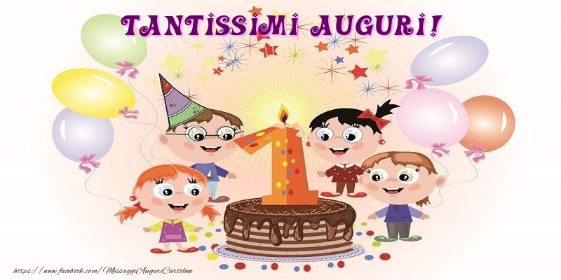 Il più popolari cartoline per bambini - Tantissimi Auguri !!!