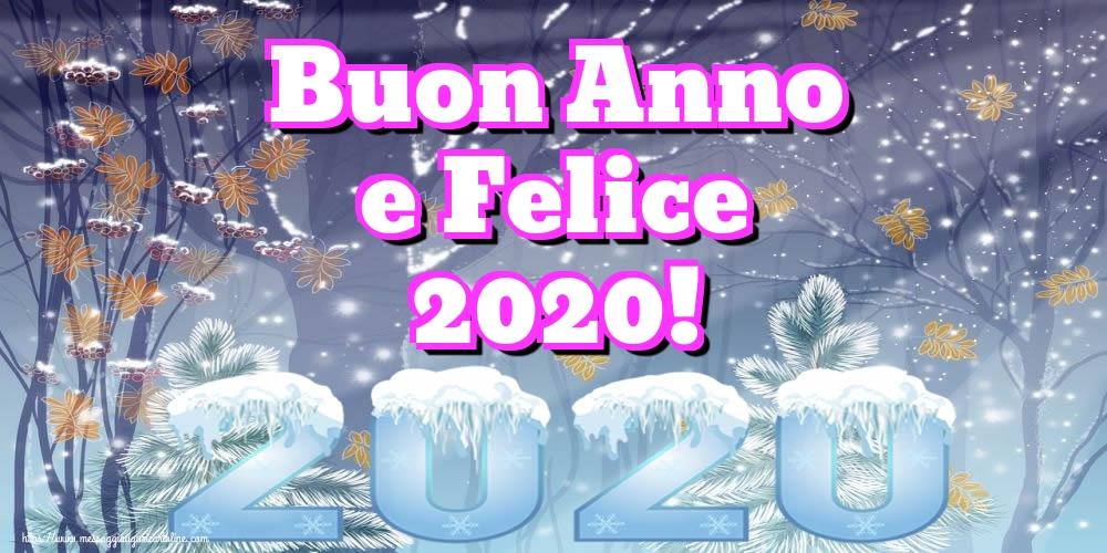 Cartoline di Buon Anno - Buon Anno e Felice 2020!