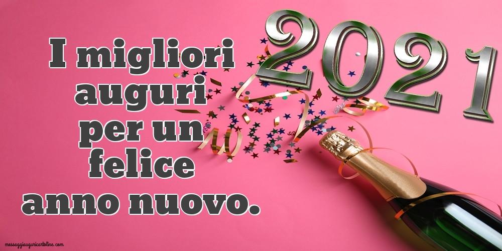 Cartoline di Buon Anno - I migliori auguri per un felice anno nuovo.