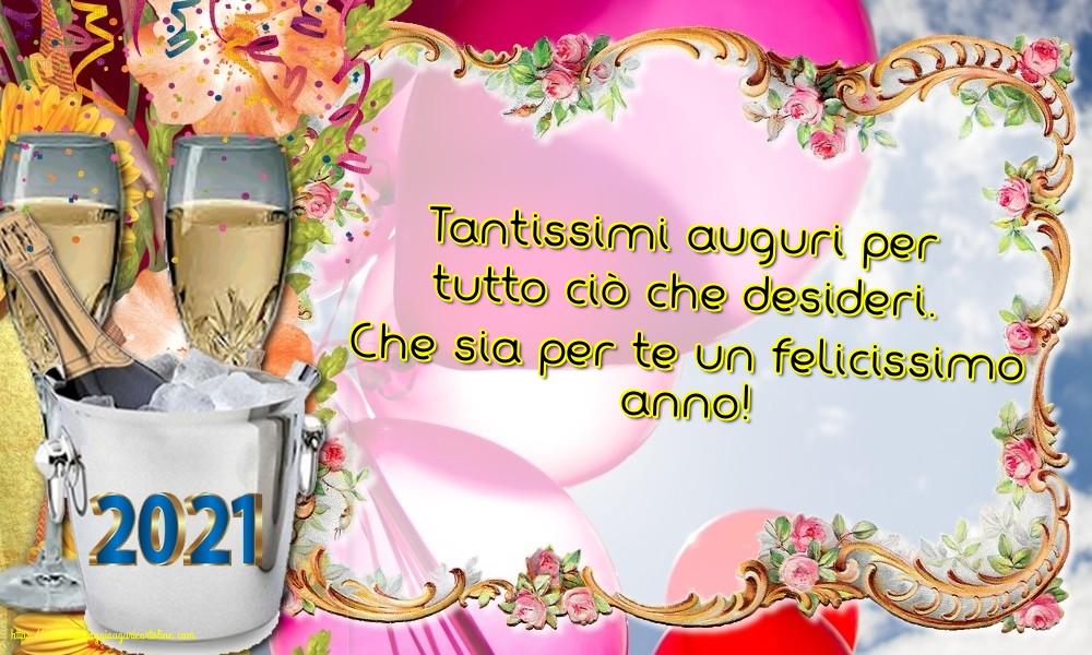 Cartoline di Buon Anno - Che sia per te un felicissimo anno!