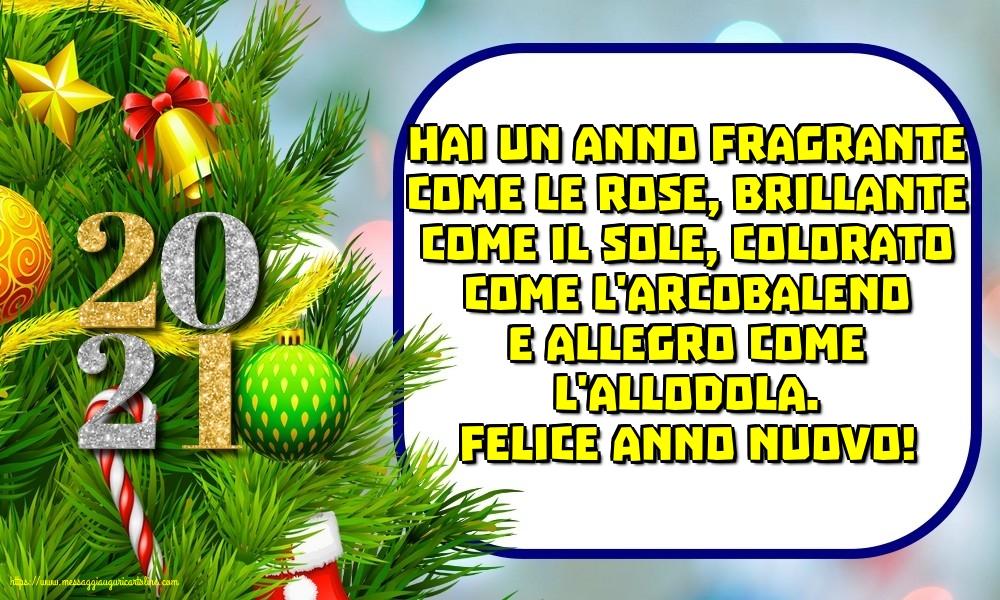 Cartoline di Buon Anno con messaggi - Felice anno nuovo!