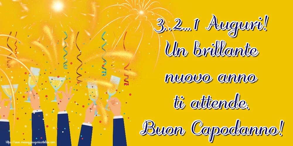 Cartoline di Buon Anno - 3..2…1 Auguri! Un brillante nuovo anno ti attende. Buon Capodanno!