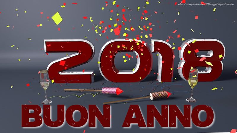 Cartoline di Buon Anno - 2018 Buon Anno