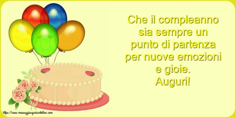Cartoline di compleanno con torta - Auguri!