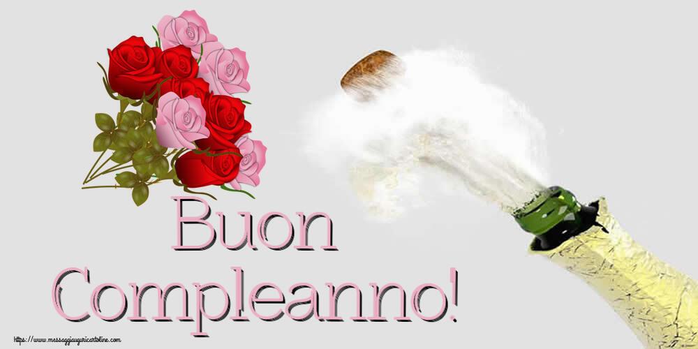 Cartoline di compleanno con fiori - Buon Compleanno!