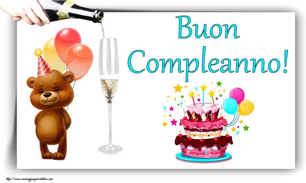 Cartoline di compleanno con torta - Buon Compleanno!