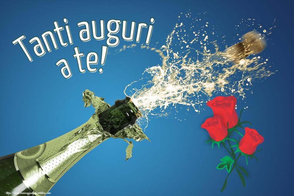 Cartoline di compleanno con fiori - Tanti auguri a te!
