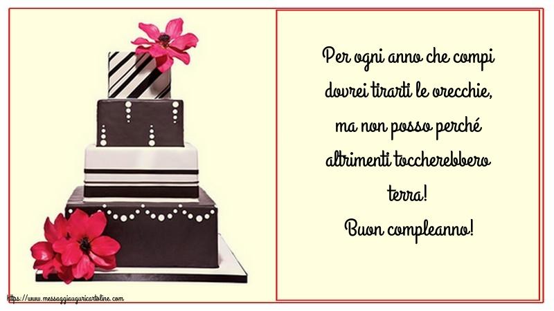 Cartoline di compleanno con messaggi - Buon compleanno!