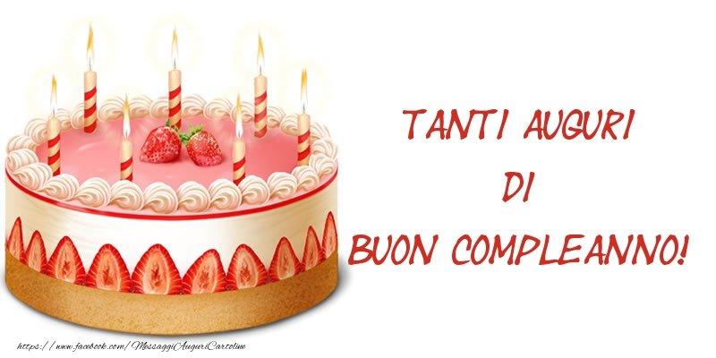 Cartoline  - Torta Tanti auguri di Buon Compleanno!