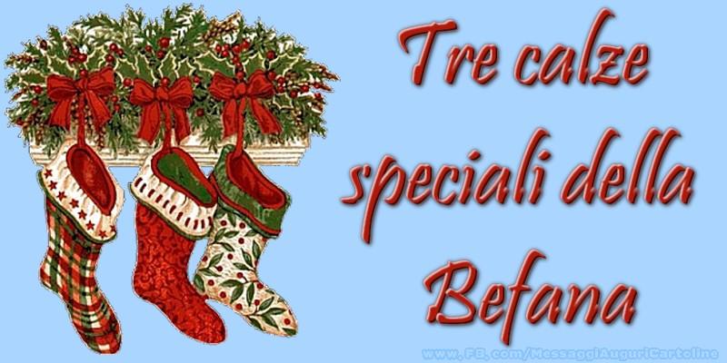 Cartoline di Befana - Tre calze speciali della Befana