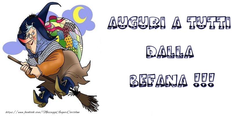 Cartoline di Befana - Auguri a tutti dalla Befana