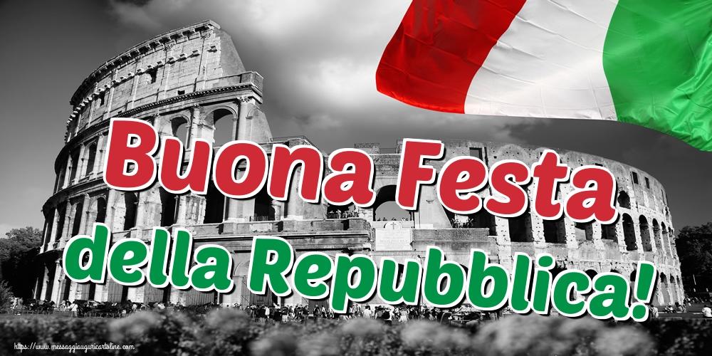 Cartoline per la Festa della Repubblica - Buona Festa della Repubblica!