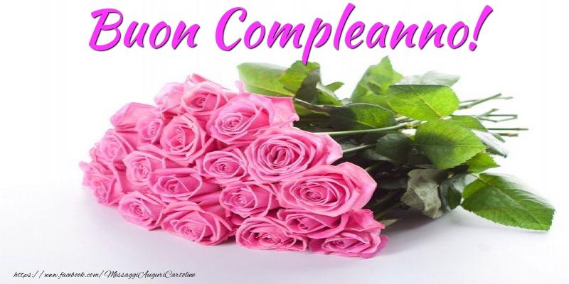 Preferenza Cartoline con fiori - Buon Compleanno! - messaggiauguricartoline.com WU34