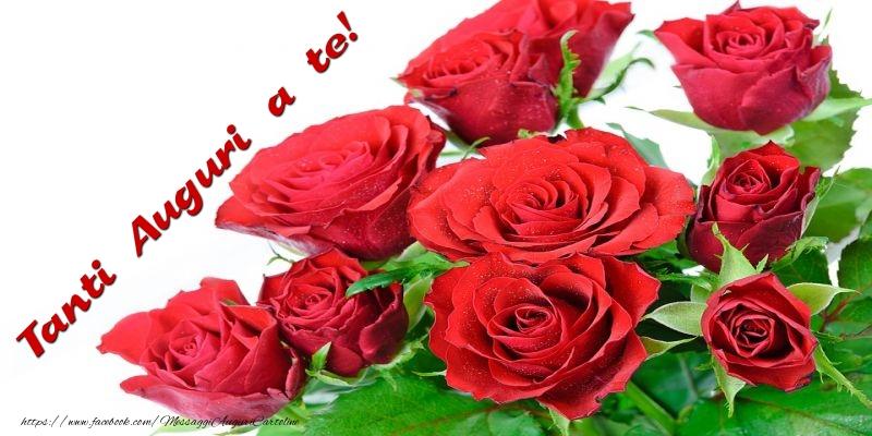 Preferenza con fiori - Tanti Auguri a te! - messaggiauguricartoline.com WJ03