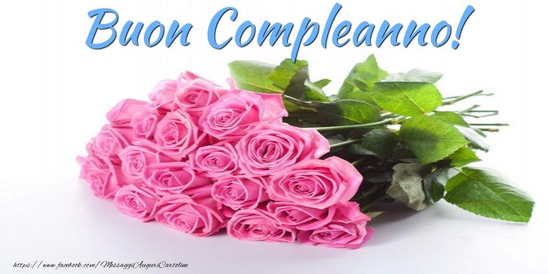 Cartoline con fiori - Buon Compleanno!