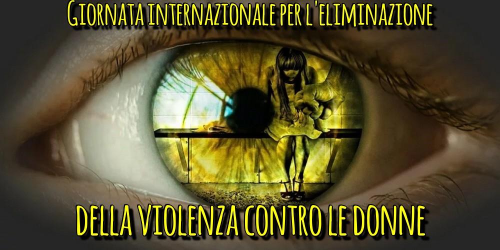 Cartoline per la Giornata contro la violenza sulle donne - Giornata internazionale per l'eliminazione della violenza contro le donne