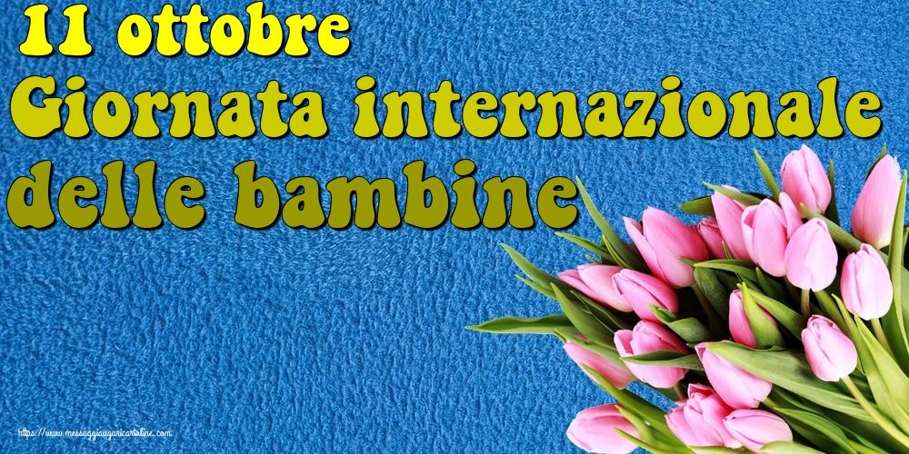 Cartoline per la Giornata delle bambine - 11 ottobre Giornata internazionale delle bambine