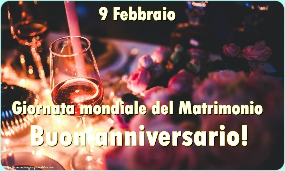 Cartoline Giornata Mondiale del Matrimonio - 9 Febbraio Giornata mondiale del Matrimonio Buon anniversario!