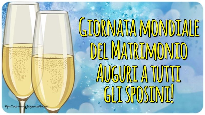 Cartoline Giornata Mondiale del Matrimonio - Giornata mondiale del Matrimonio Auguri a tutti gli sposini!