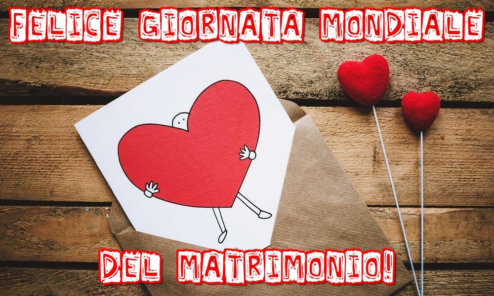Cartoline Giornata Mondiale del Matrimonio - Felice Giornata mondiale del Matrimonio!