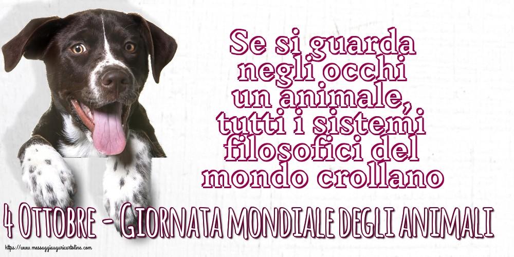 Cartoline per la Giornata mondiale degli animali - 4 Ottobre - Giornata mondiale degli animali
