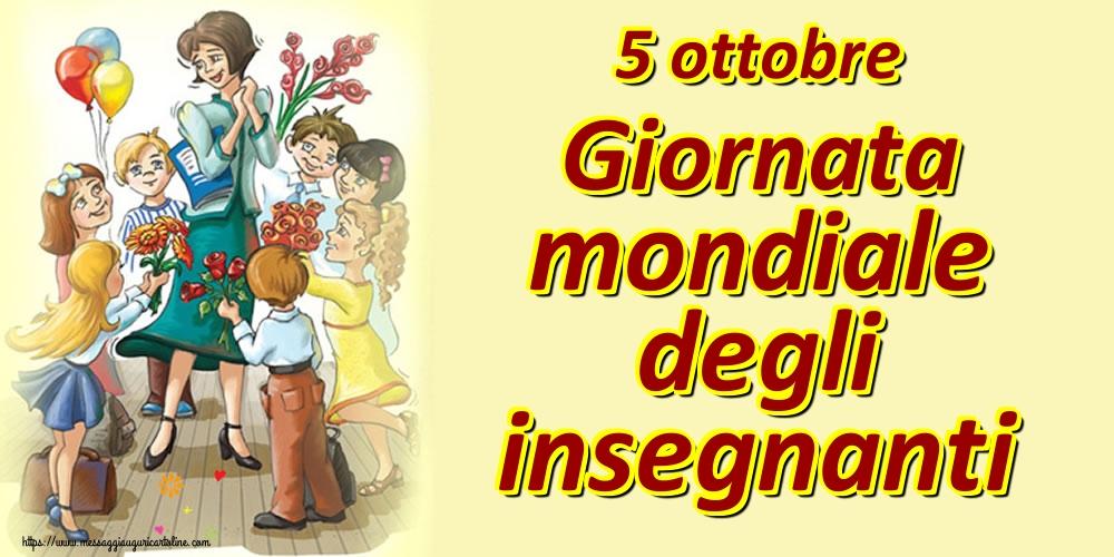 Cartoline per la Giornata mondiale degli insegnanti - 5 ottobre Giornata mondiale degli insegnanti