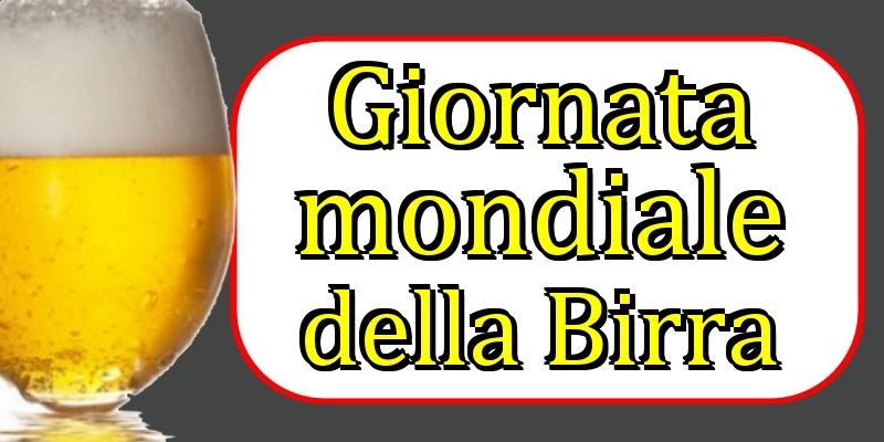 Cartoline per la Giornata Mondiale della Birra - Giornata mondiale della Birra