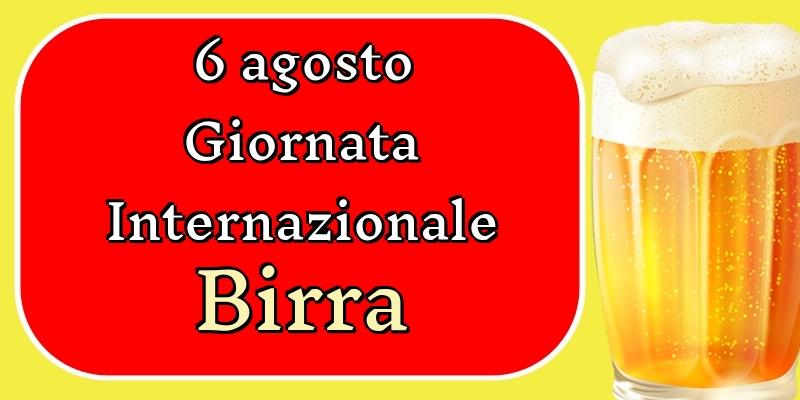 Cartoline per la Giornata Mondiale della Birra - 6 agosto Giornata Internazionale della Birra