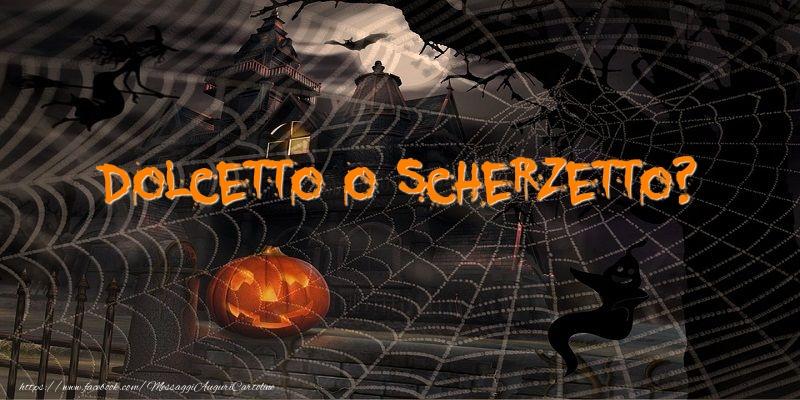 Cartoline di Halloween - Dolcetto o scherzetto