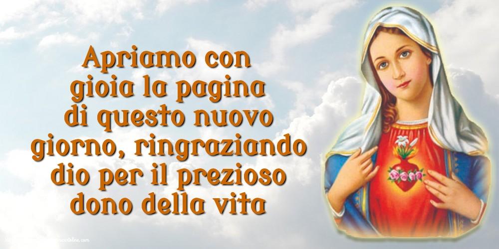 Cartoline per la Immagini religiose - Apriamo con gioia la pagina di questo nuovo giorno