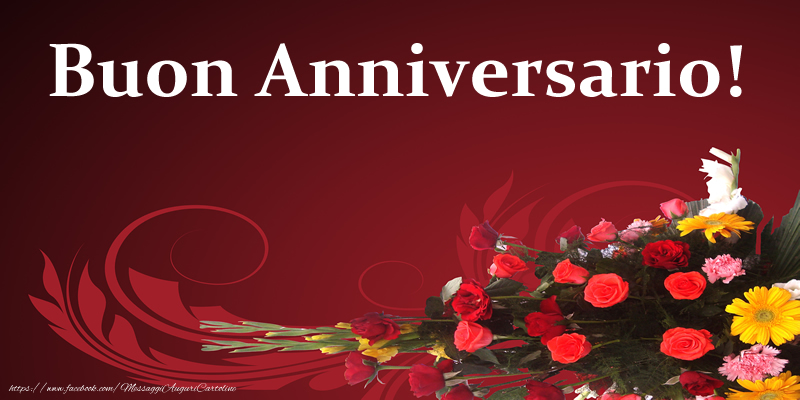 Favoloso di matrimonio - Buon Anniversario! - messaggiauguricartoline.com BQ84