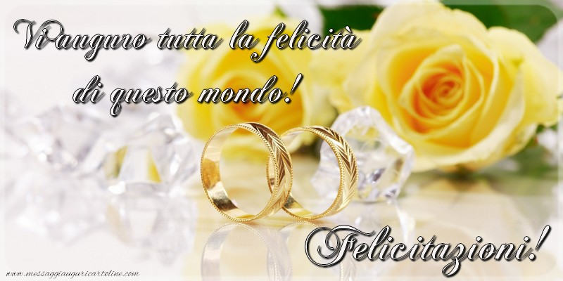 Matrimonio Auguri O Felicitazioni : Cartoline di matrimonio messaggiauguricartoline