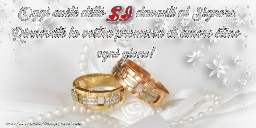 Auguri Terzo Anniversario Matrimonio : Cartoline di matrimonio pagina