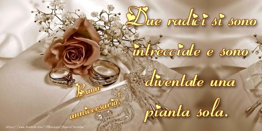 Cartoline di matrimonio - Buon Anniversario di Matrimonio! Auguri!