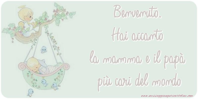 Cartoline di nascita - Benvenuto.
