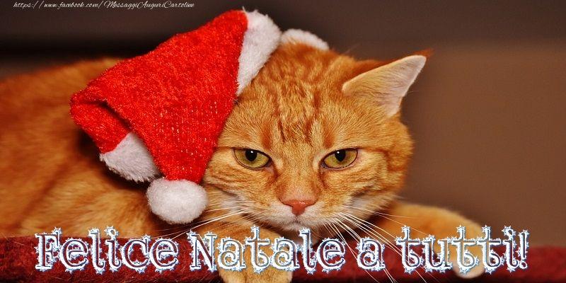 Cartoline di Natale - Felice Natale a tutti
