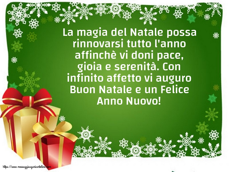 Cartoline di Natale - Vi auguro Buon Natale e un Felice Anno Nuovo!