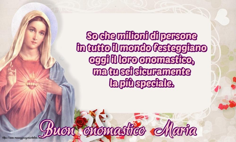 Cartoline per la Natività della Beata Vergine Maria - Buon onomastico Maria