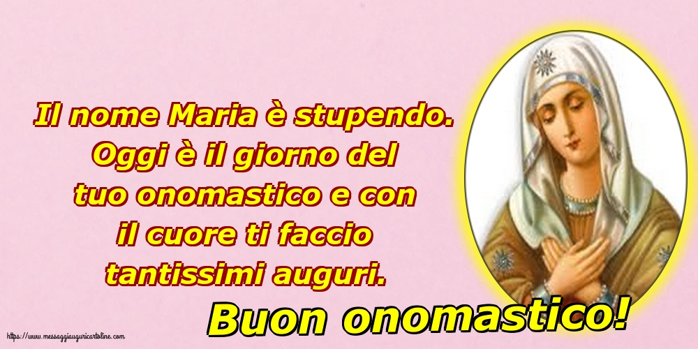 Cartoline per la Natività della Beata Vergine Maria - Buon onomastico!