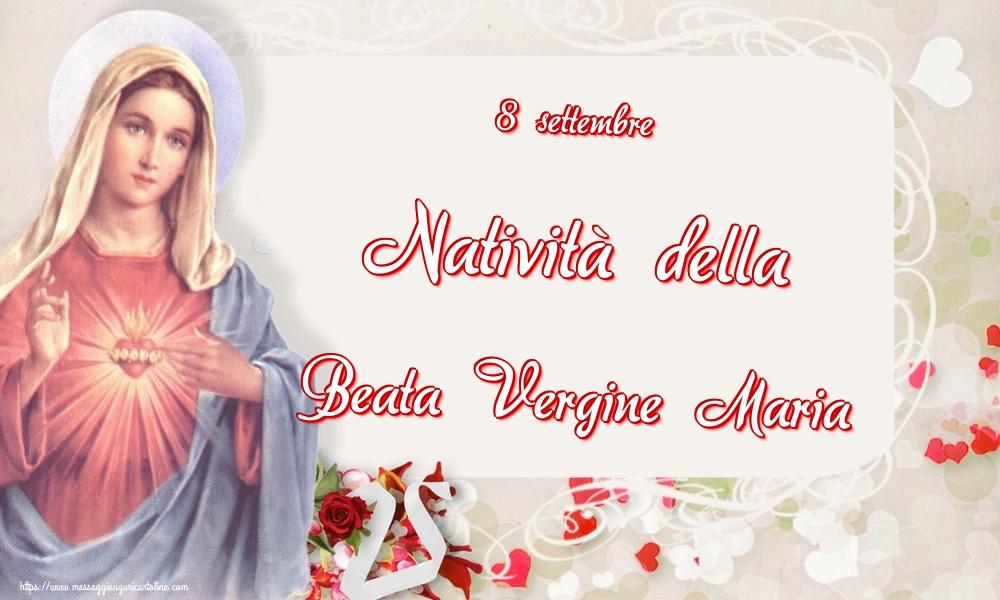 Cartoline per la Natività della Beata Vergine Maria - 8 settembre Natività della Beata Vergine Maria