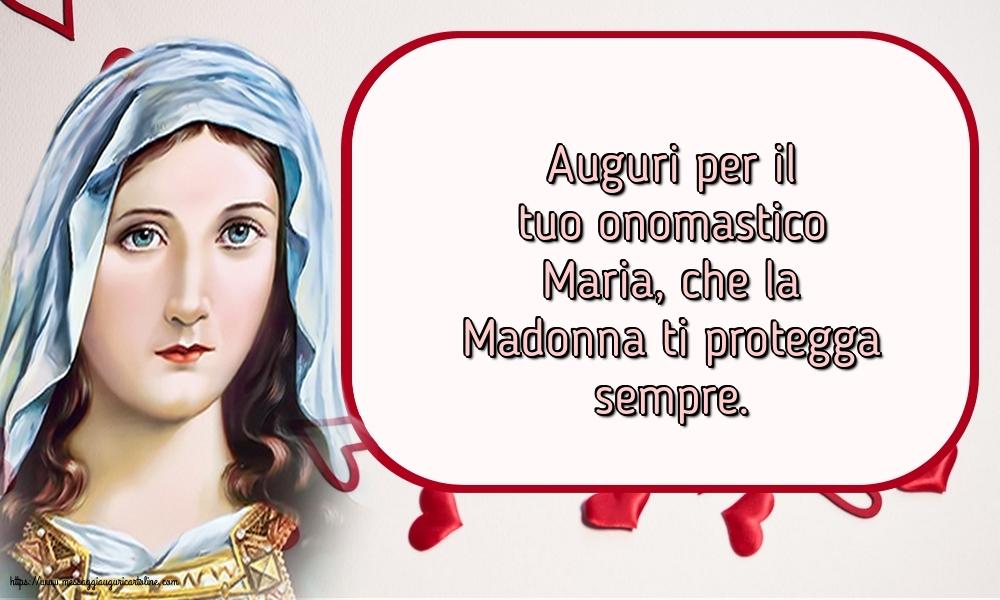 Cartoline per la Natività della Beata Vergine Maria - Auguri per il tuo onomastico Maria