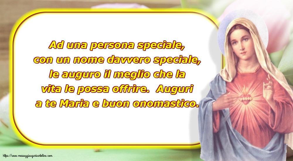 Cartoline per la Natività della Beata Vergine Maria - Auguri a te Maria e buon onomastico.