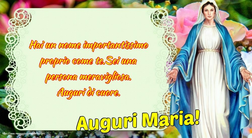 Cartoline per la Natività della Beata Vergine Maria - Auguri Maria!