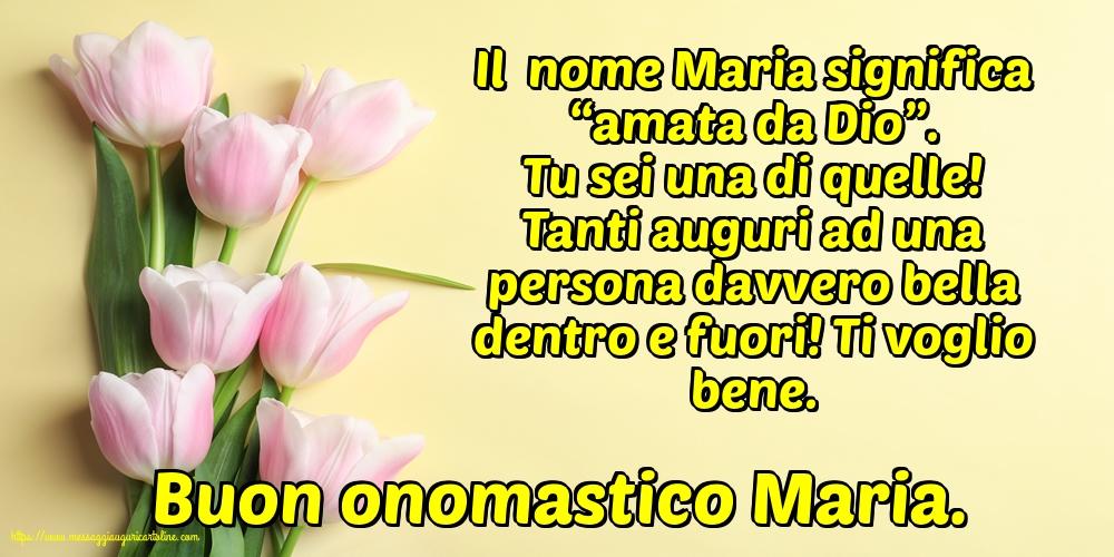 Cartoline per la Natività della Beata Vergine Maria - Buon onomastico Maria.