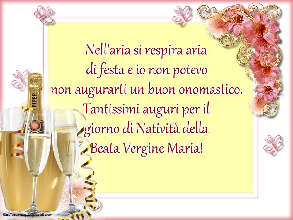 Cartoline per la Natività della Beata Vergine Maria - Tantissimi auguri per il giorno di Natività della Beata Vergine Maria!