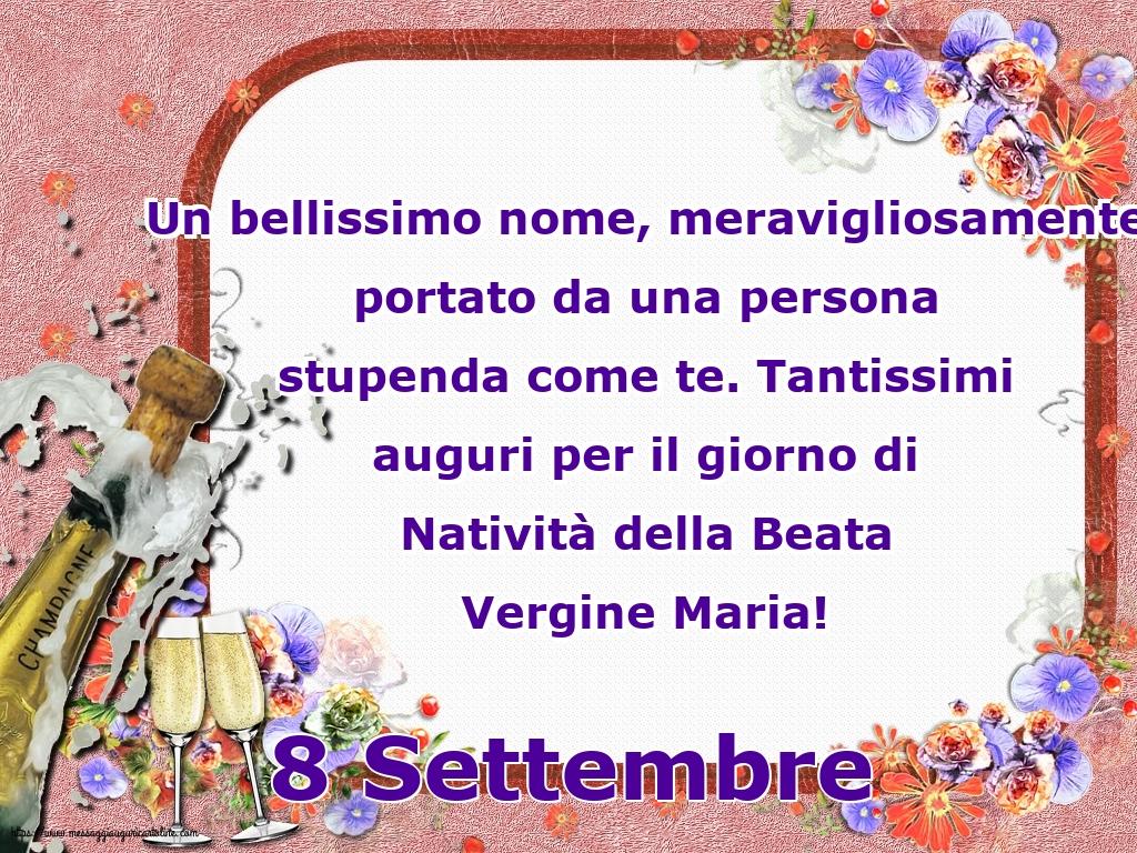 Cartoline per la Natività della Beata Vergine Maria - 8 Settembre - 8 Settembre Tantissimi auguri per il giorno di Natività della Beata Vergine Maria!