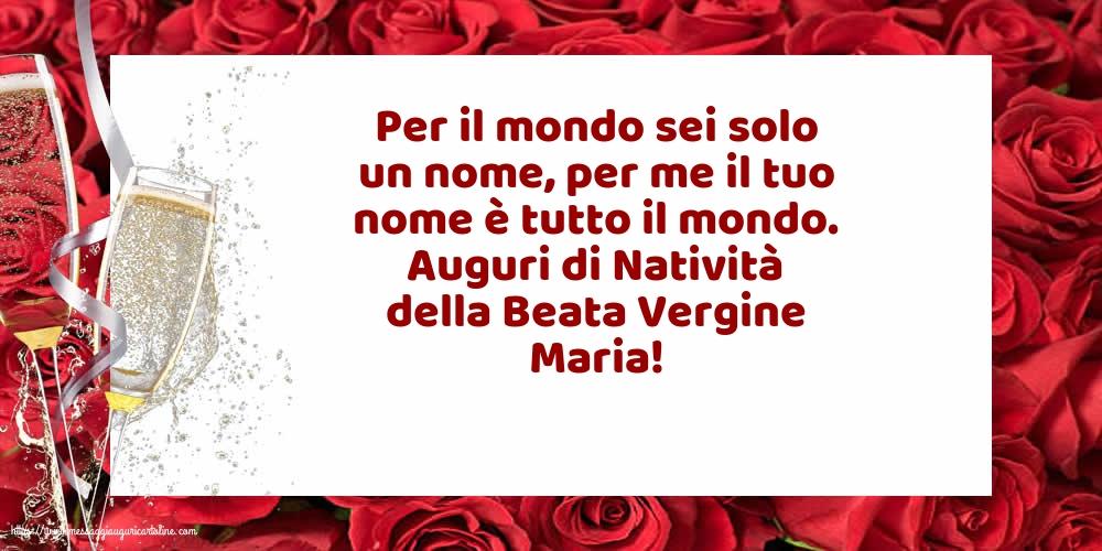 Cartoline per la Natività della Beata Vergine Maria con messaggi - Auguri di Natività della Beata Vergine Maria!