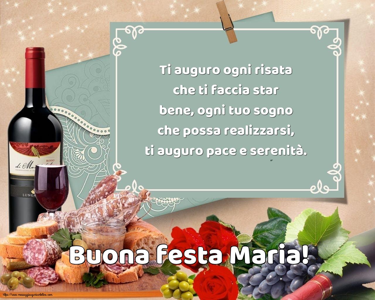 Cartoline per la Natività della Beata Vergine Maria con messaggi - Buona festa Maria!